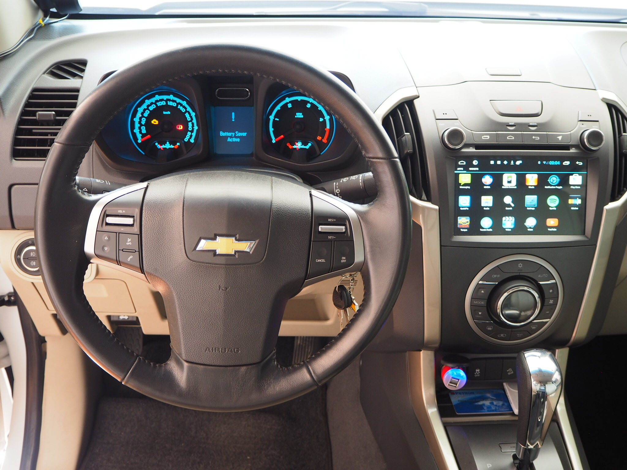The new android head unit of the trailblazer comes standard in the ltx