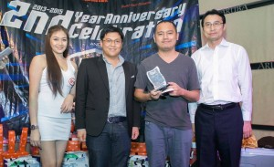 The BYD Makata Award goes to Mr. Peter Jerome H. Manabat for his insightful and well thought-out feature story on the BYD F0 broadcast in the February 23, 2015 episode of The Manila Street Kings.