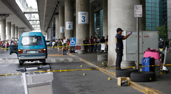 With all the security checking every car, gunmen were still able to enter the NAIA 3 and open fire without any problem.